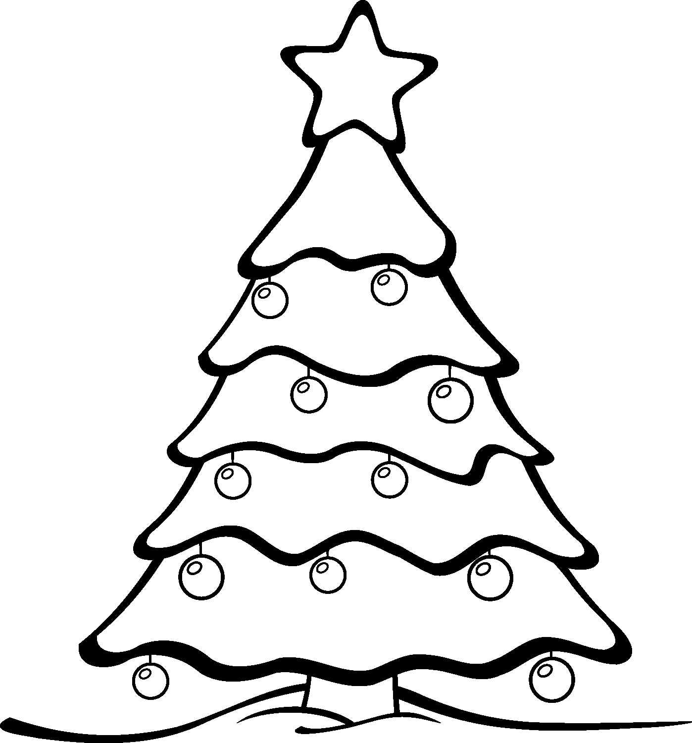 Christmas Tree Outline Drawing