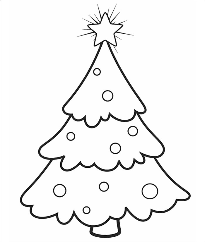 Christmas Tree Outline Drawing At GetDrawings
