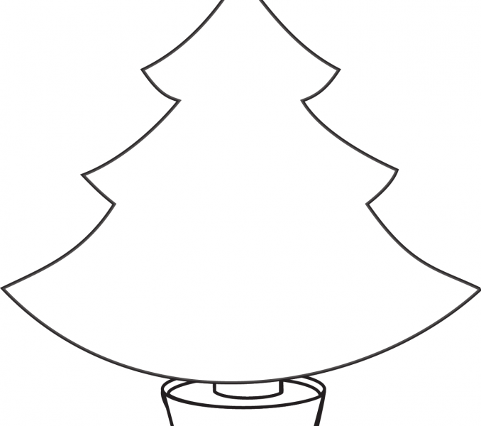 678x600 Christmas Tree Patterns For Kids Kids Coloring