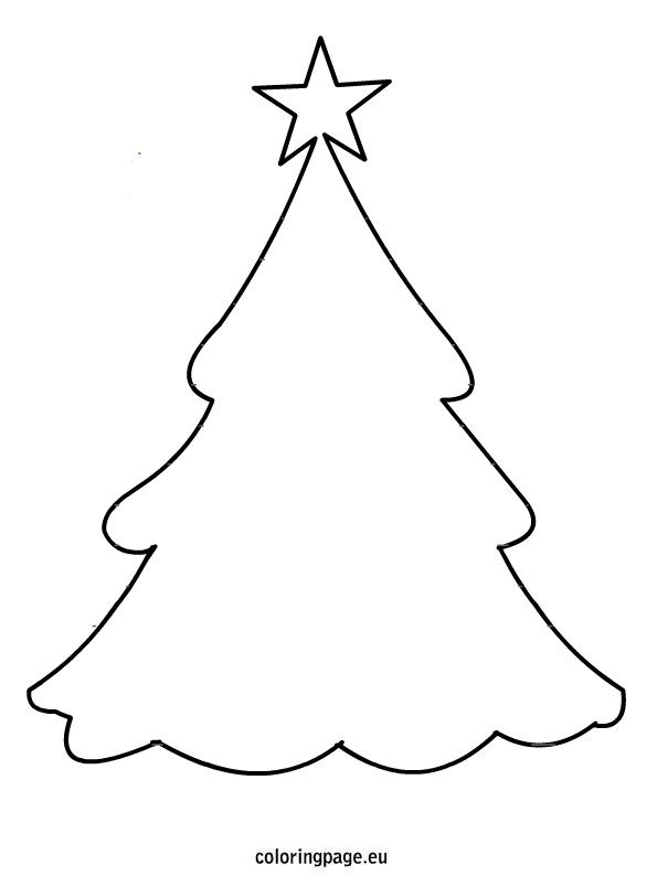 595x804 Christmas Tree Star Coloring Page