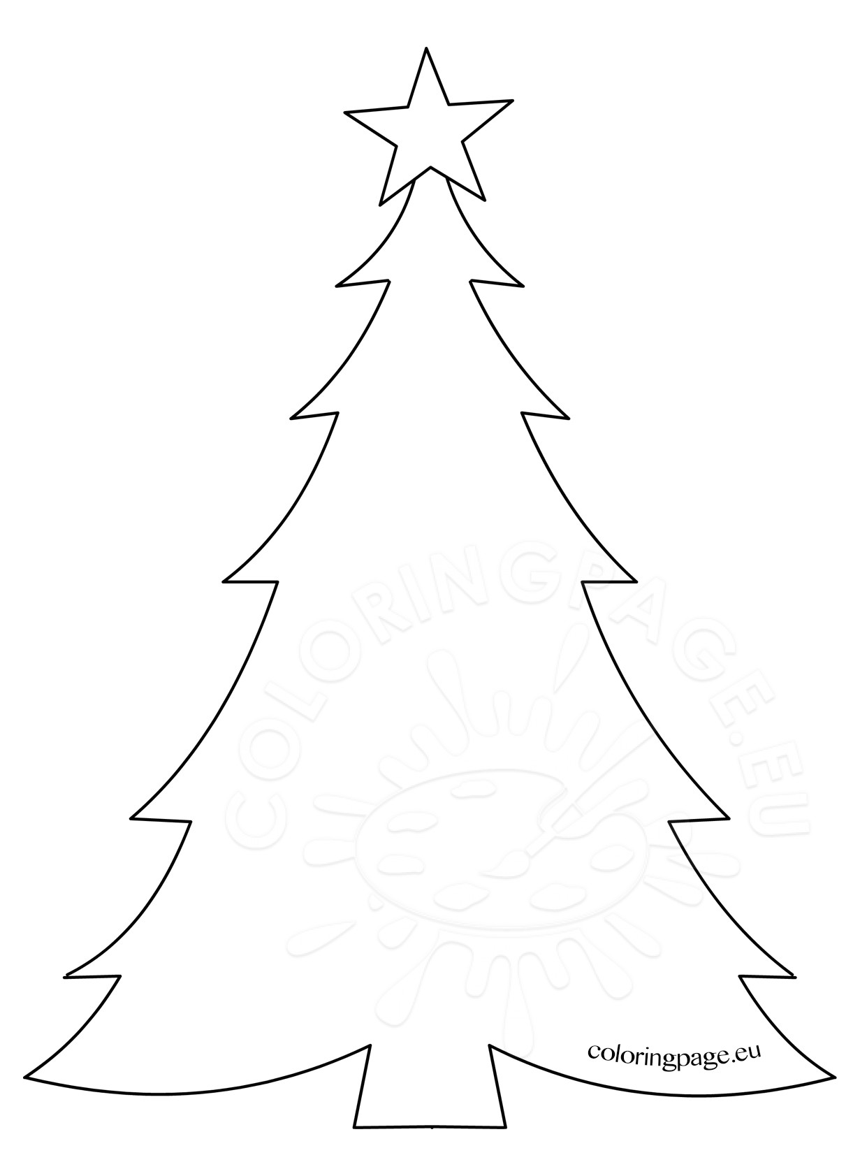 1231x1683 Christmas Tree Star Coloring Pages