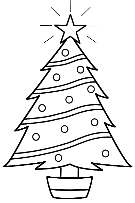 532x800 Christmas Tree Star Coloring Pages