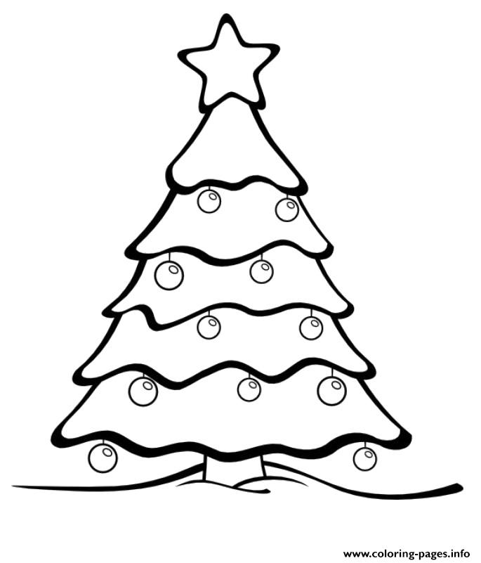 685x801 Christmas Tree With A Star Coloring Pages Printable