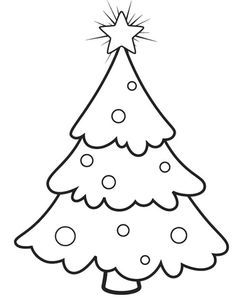 236x300 A Christmas Tree To Decorate In The Three Star Coloring Page