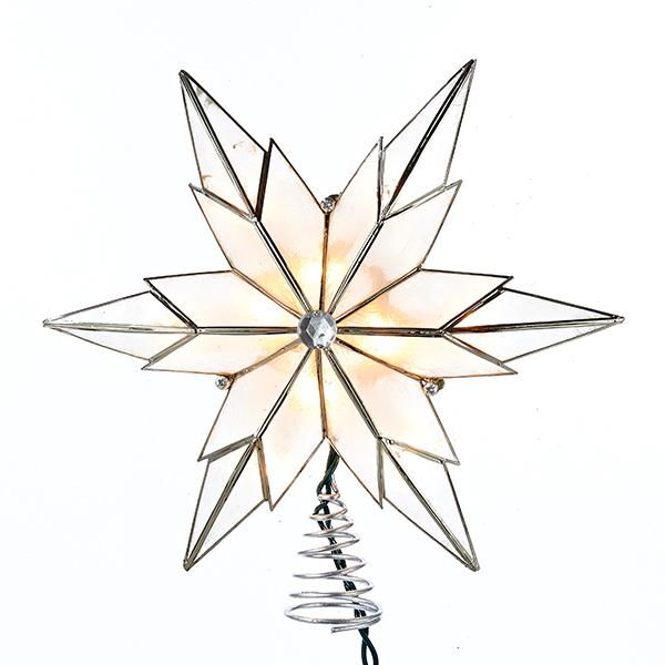 600x600 Novelty Lights Capiz Clear Star Tree Topper Ul3123