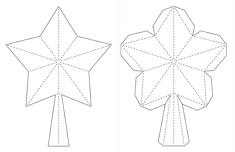 1000x649 Paper Zen 3D Star For Xmas Tree Topper FREE SVG DXF