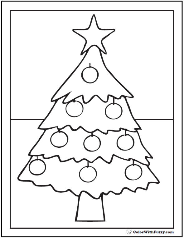 590x762 Star Christmas Tree Coloring Pages
