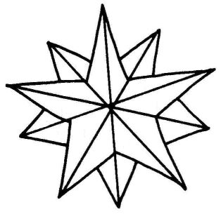 314x305 Star Christmas Ornament Whisked Into Winter