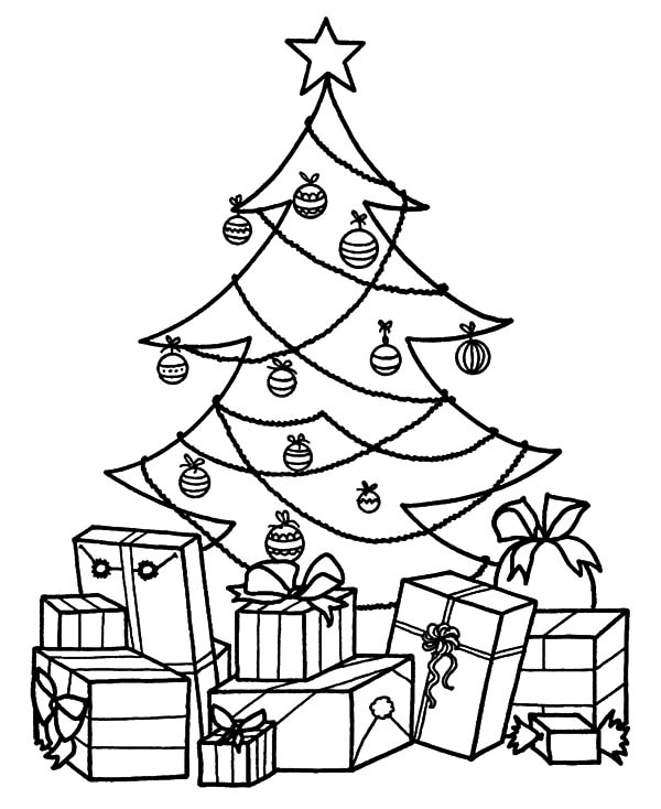 Christmas Tree With Presents Drawing at GetDrawings.com | Free for ...