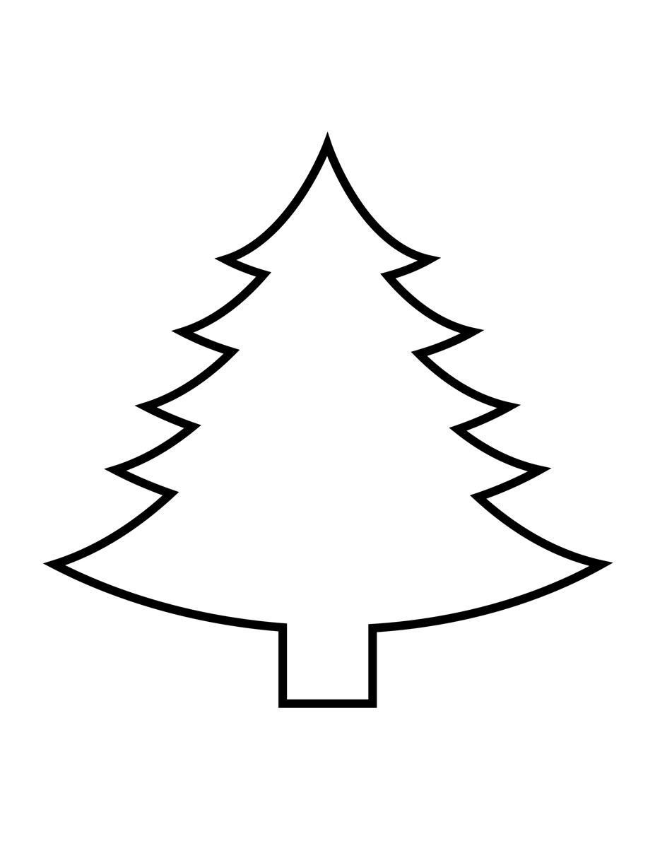 Drawing Of A Christmas Tree Easy.Christmas Trees Drawing At Getdrawings Com Free For