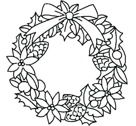 468x435 christmas wreath coloring pages for fancy draw kids coloring