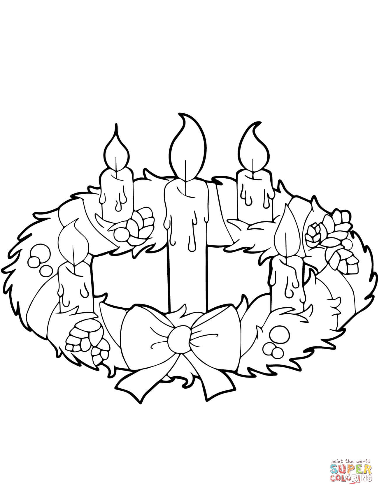 1300x1682 Christmas Wreath Coloring Pages Free Within Page