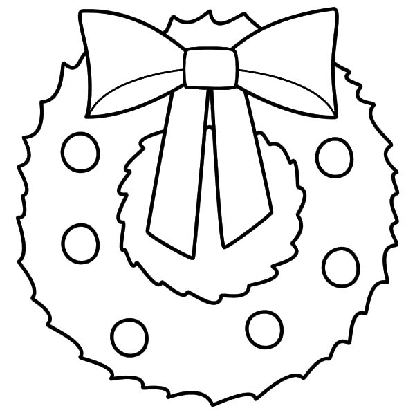 600x600 Christmas Wreath Coloring Pages 5 Nice For Kids