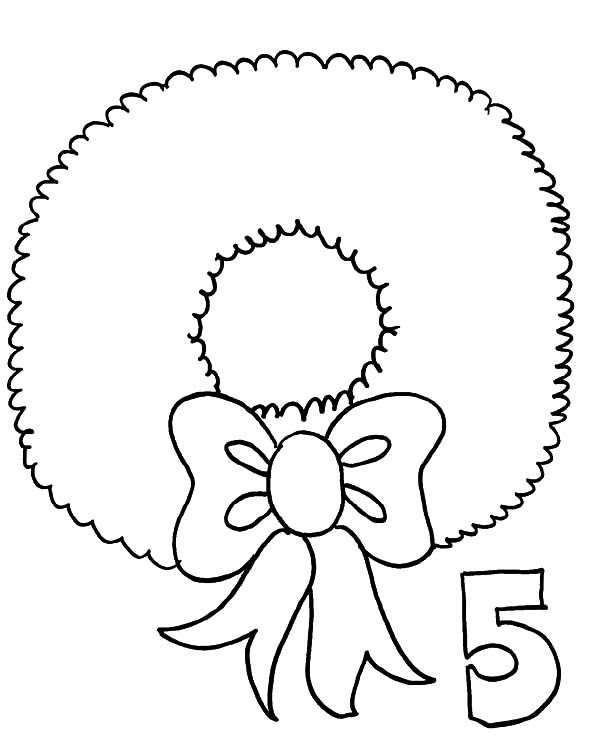 600x756 Drawing Christmas Wreaths Coloring Pages Sun