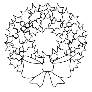 300x300 How To Draw Christmas Wreaths Coloring Pages Sun