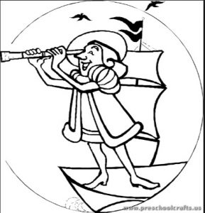 289x300 Columbus Day Coloring Pages For Kids