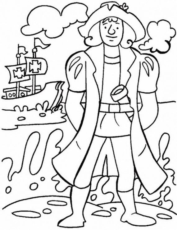 570x740 Columbus Coloring Pages