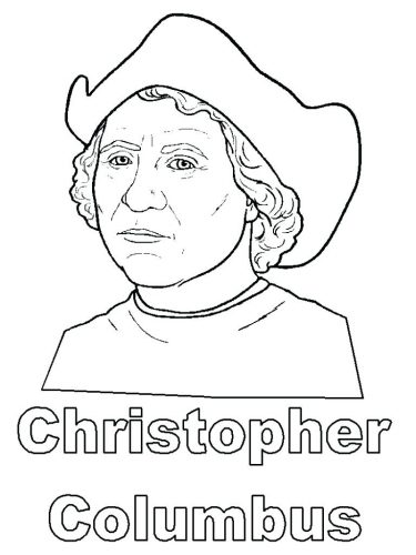 375x500 Coloring Pages ~ Christopher Columbus Coloring Pages Hat Page
