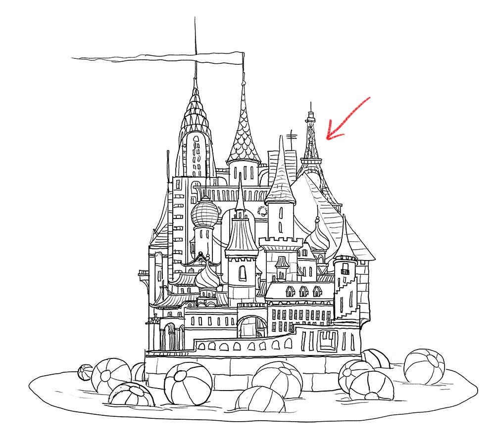1000x890 Drawing Prompt Castles! Bobbledy Books