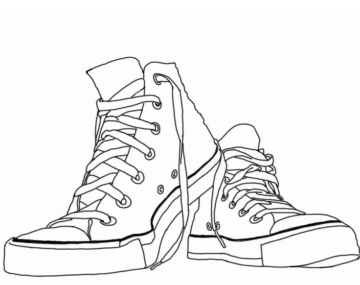 736x582 Chuck Taylor Sneaker Clipart