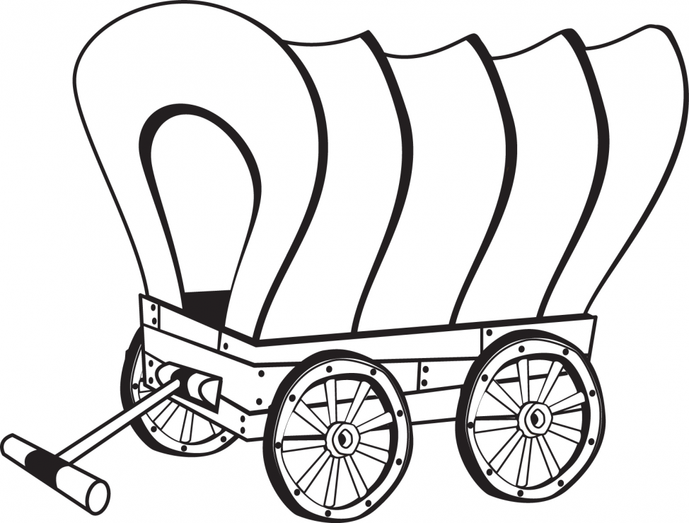 974x739 Covered Wagon Drawing Page Tags Covered Wagon Drawing Simple