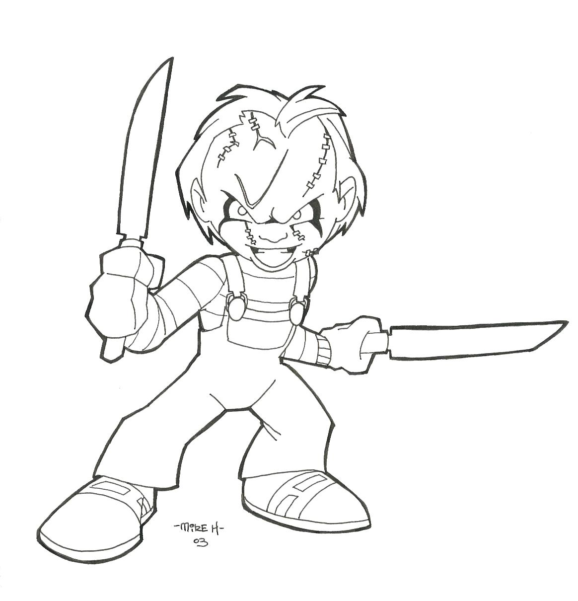 Chucky Doll Drawing at GetDrawings | Free download