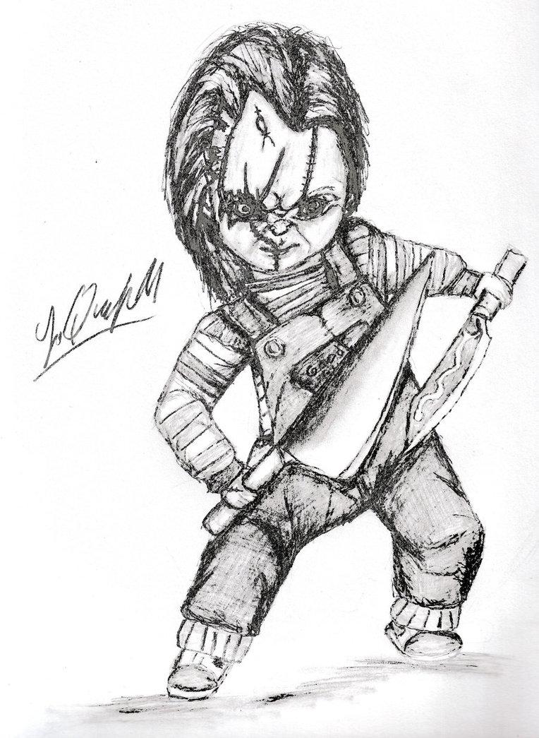 764x1045 Chucky And The Tall Kitchen Knife 2 By Laquyn