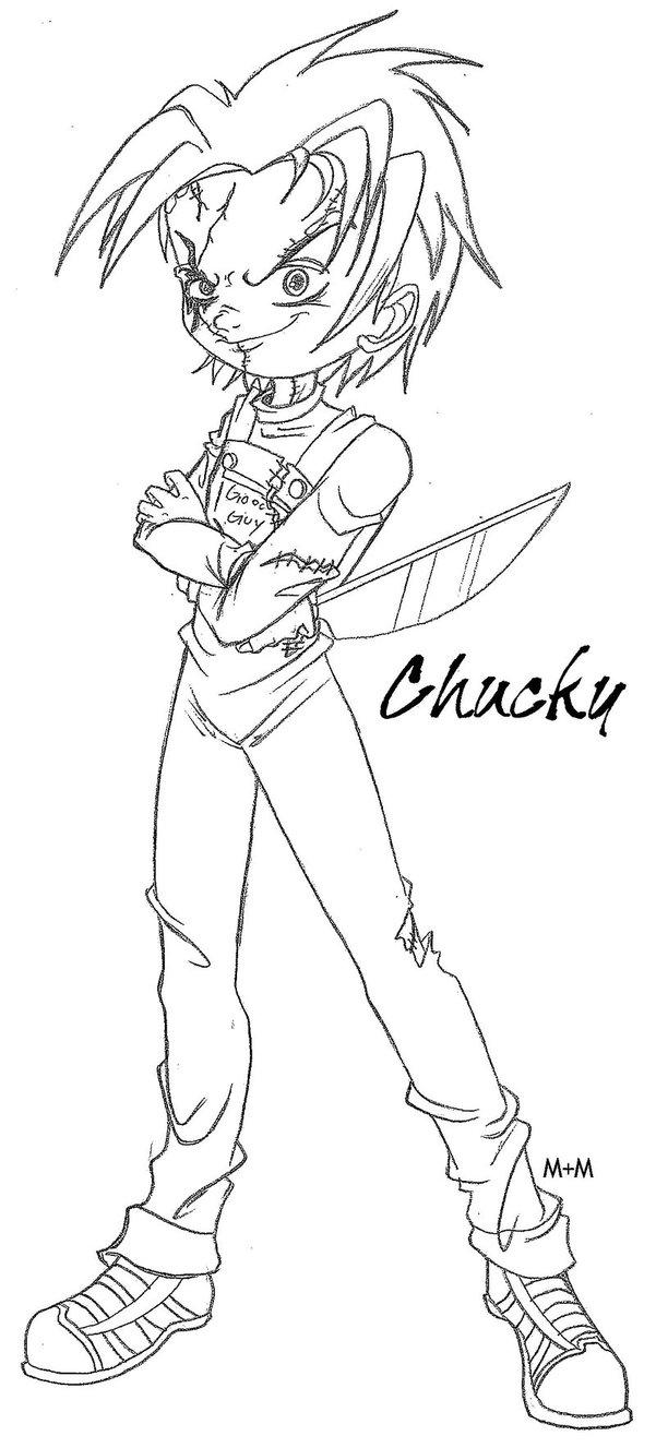 601x1327 Chucky Sketch By Chuckysbride13
