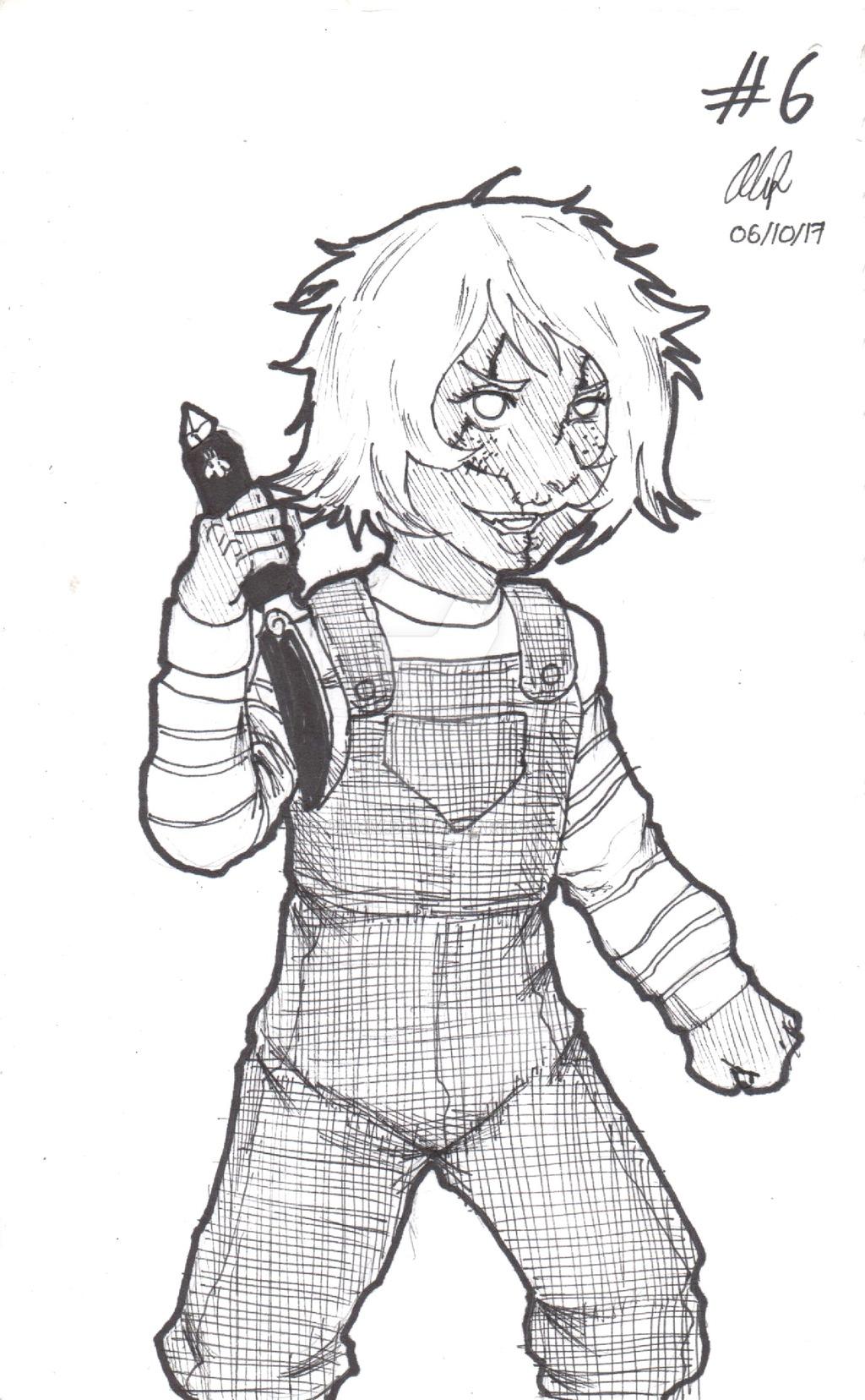 1024x1656 Inktober 2017 6 Kid Amethyst As Chucky By Oliriv