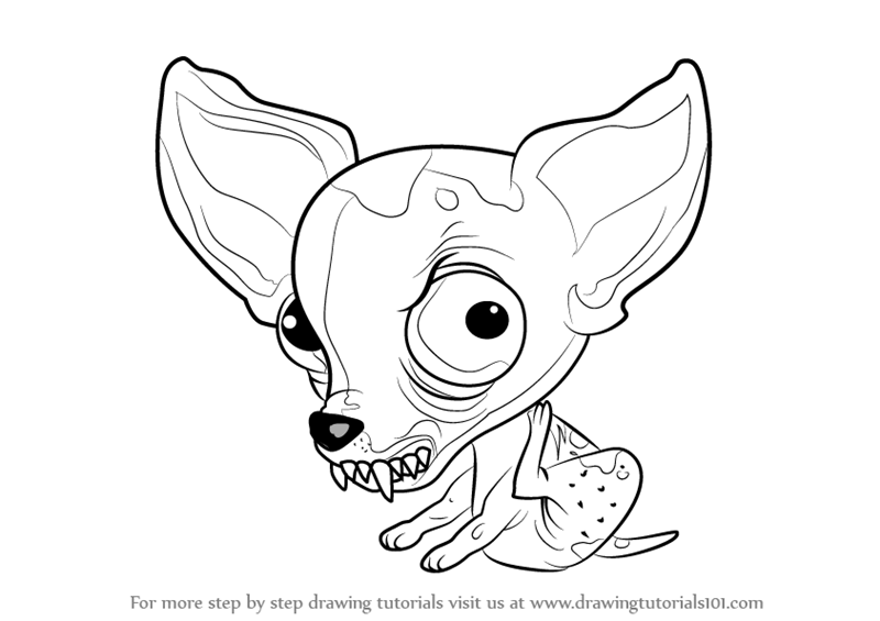 800x565 Learn How To Draw Chucky Chihuahua From The Ugglys Pet Shop (The