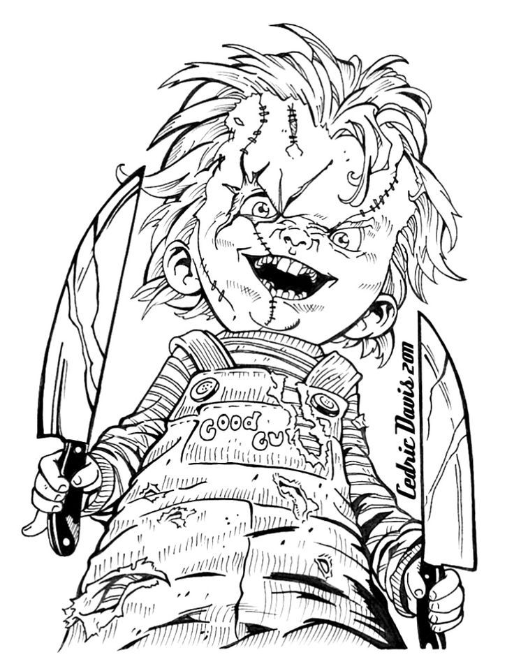 736x951 Chucky Doll Coloring Pages Coloring Page For Kids
