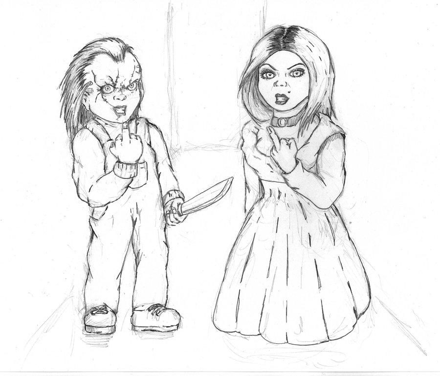 Chucky Drawing At GetDrawings