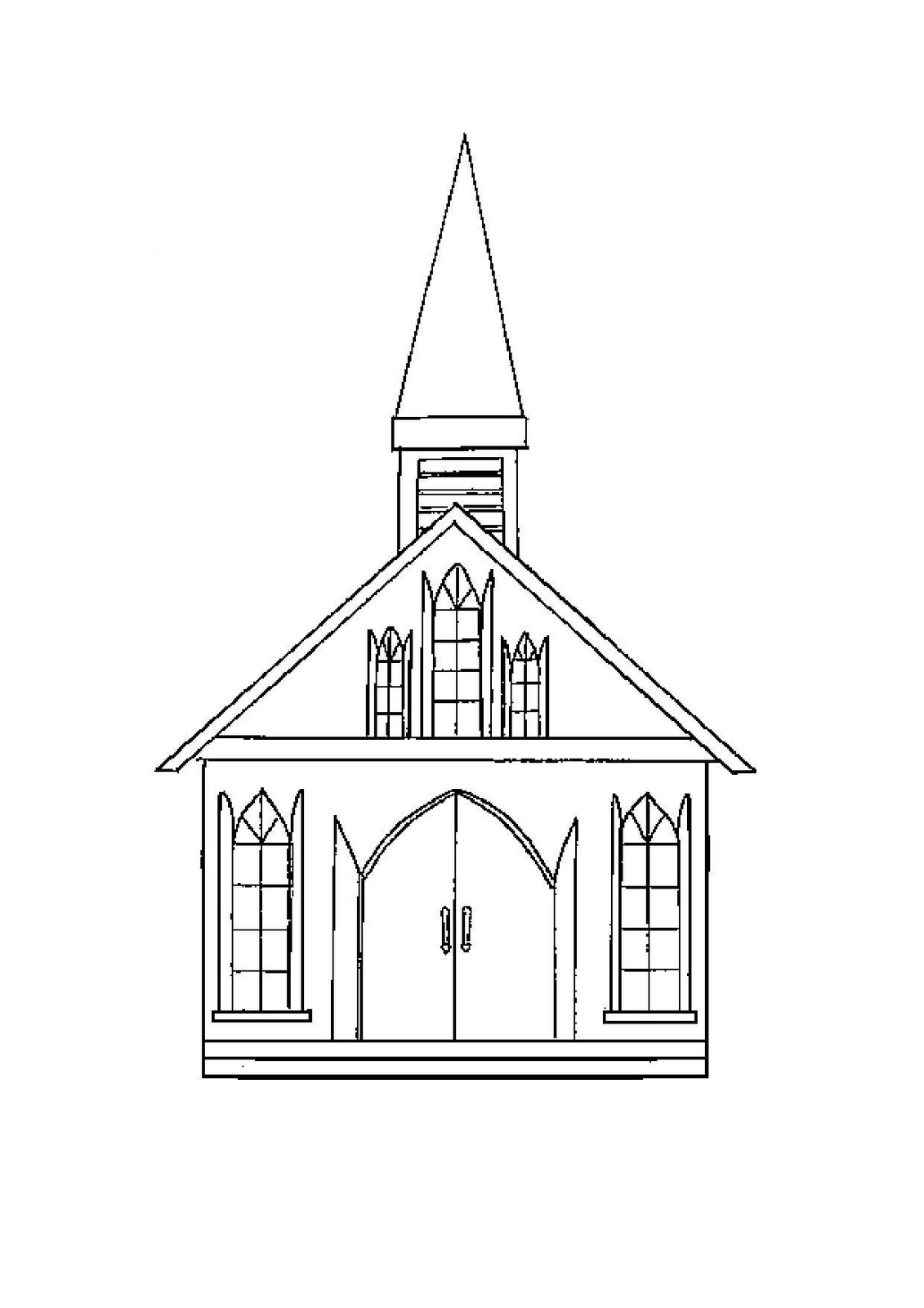 Church Building Drawing at GetDrawings.com | Free for personal use ...