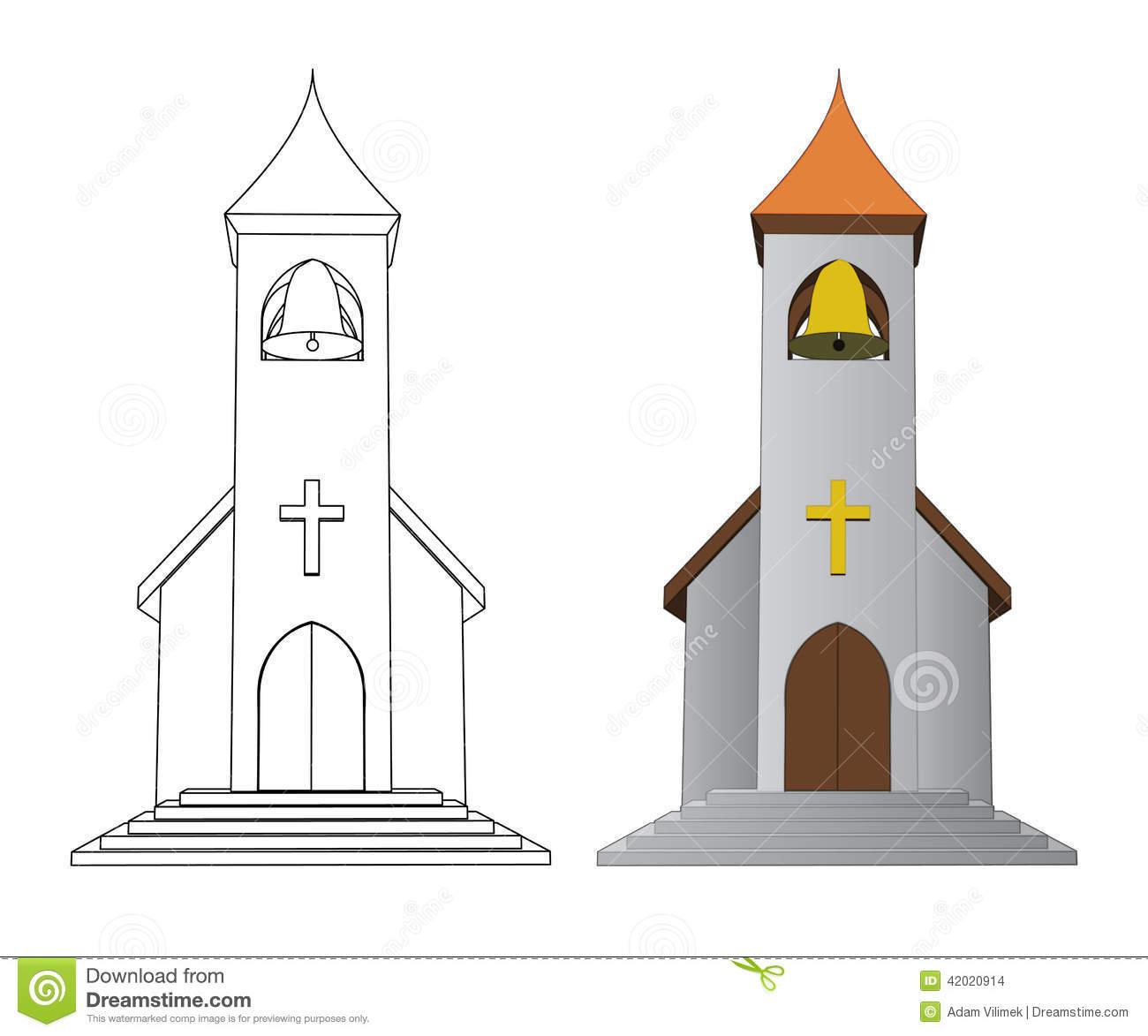1300x1173 Church Drawing