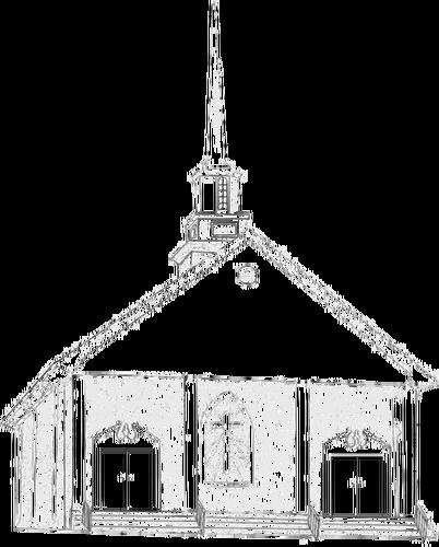 402x500 Country Church Vector Drawing Public Domain Vectors