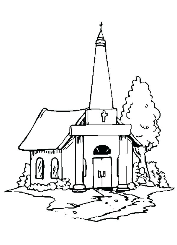 600x831 New Church Coloring Pages And Country Church Coloring Pages 91