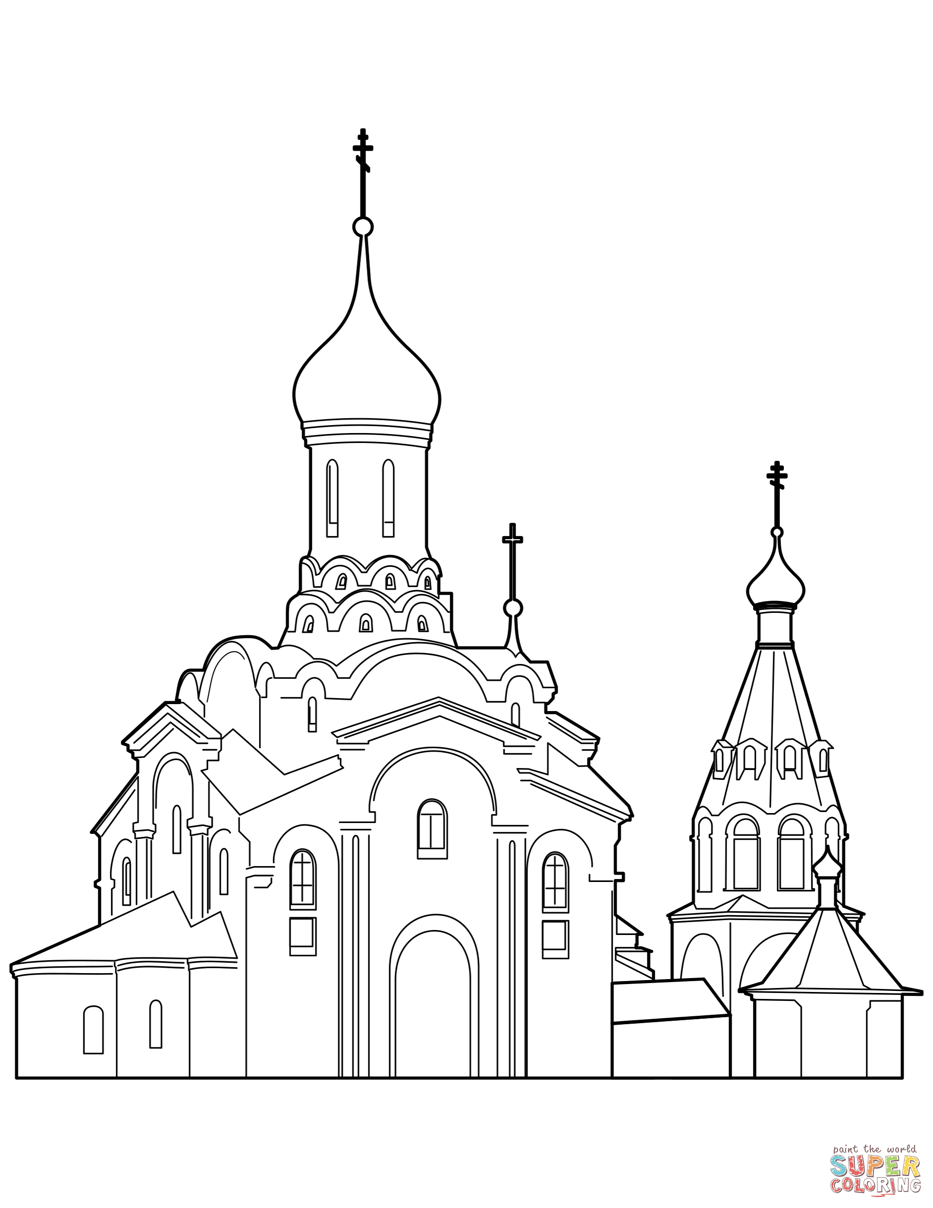 1884x2438 Orthodox Cathedral Coloring Page Free Printable Coloring Pages