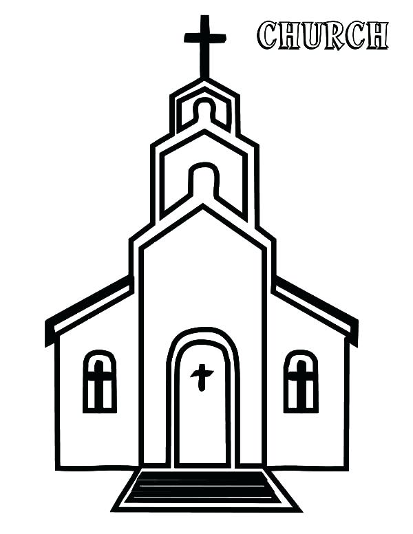 600x776 Top Rated Church Coloring Pages Pictures Drawing Church Coloring