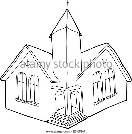 534x540 Church Building Icon In Cartoon Stock Photos Amp Church Building