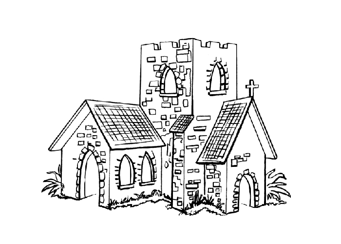 crayola easy animation studio coloring pages | Church Cartoon Drawing at GetDrawings.com | Free for ...