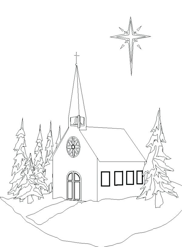 600x815 Church Coloring Pages Plus Drawing Church Coloring Pages Seven
