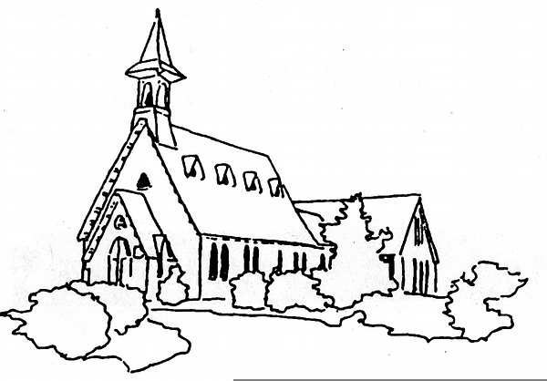 600x418 Church Line Drawing Free Images