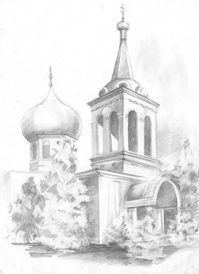 700x960 Church Sketch By Radashka