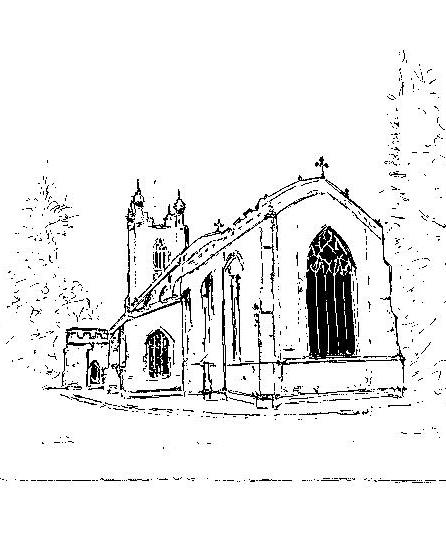 446x538 Cottenham Church Pen And Ink Drawing Grafton Art