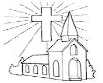 400x322 Church Coloring Pages Page Image Clipart Images