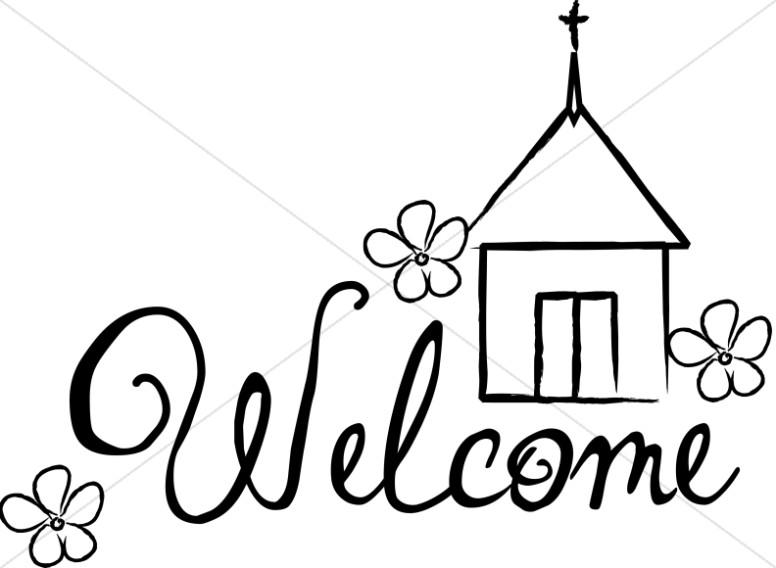 776x568 Sunday Service Welcome Sign Church Word Art