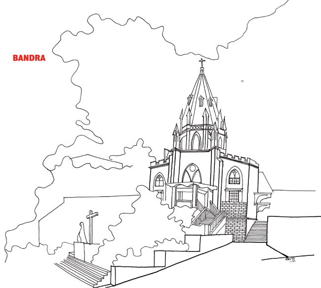 650x583 Architect Captures Bandra In A Few Strokes