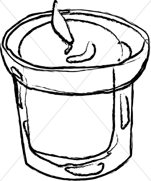 509x612 Small Candle In Outline Church Candle Clipart