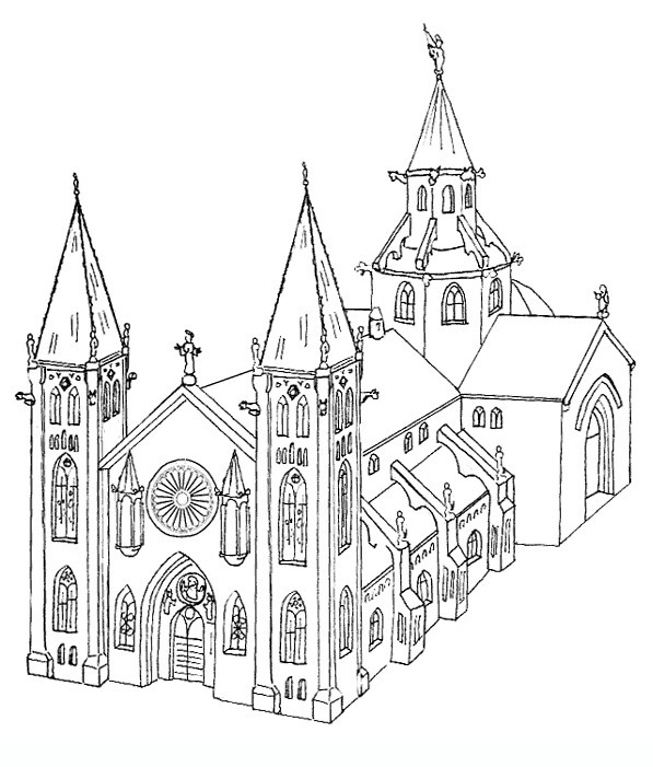 597x701 Churches 3 Adult Coloring Pages Coloring 4 Adult