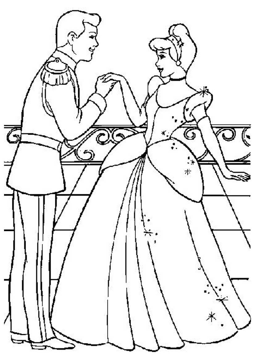 Cinderella And Prince Charming Drawing at GetDrawings.com | Free for ...